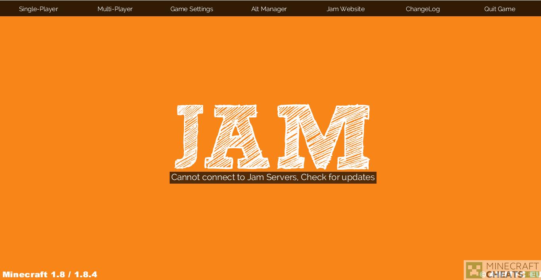 Главное меню чита JamClient