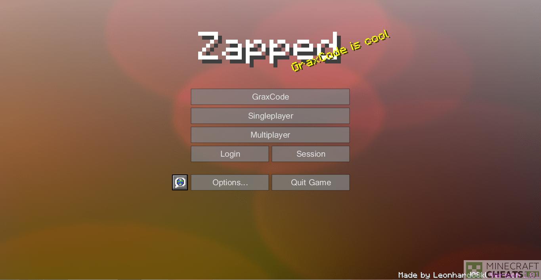 Главное меню в чите Zapped