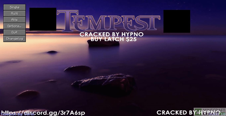 Главное меню чита Tempest