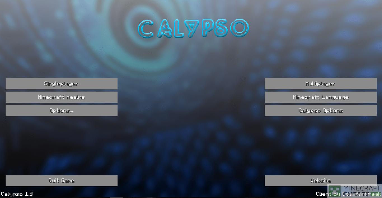 Главное меню чита Calypso
