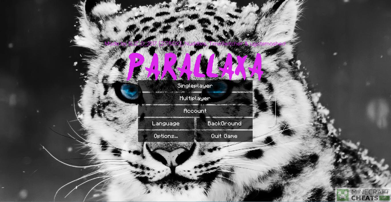 Главное меню чита Parallaxa