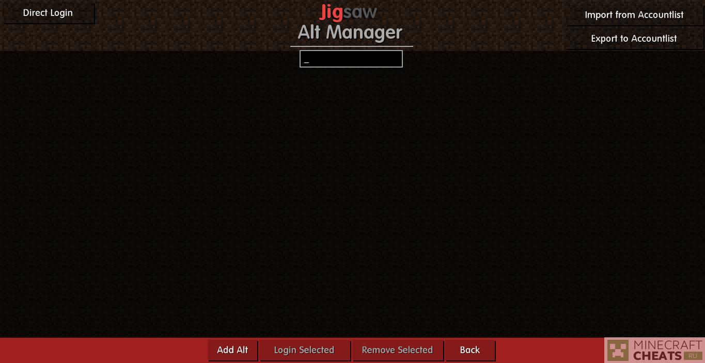 Alt Manager в чите JigSaw