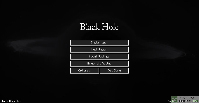 Главное меню чита BlackHole