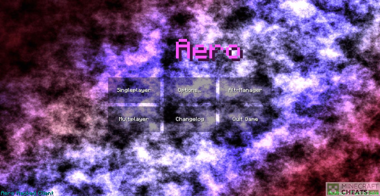 Главное меню чита Aero
