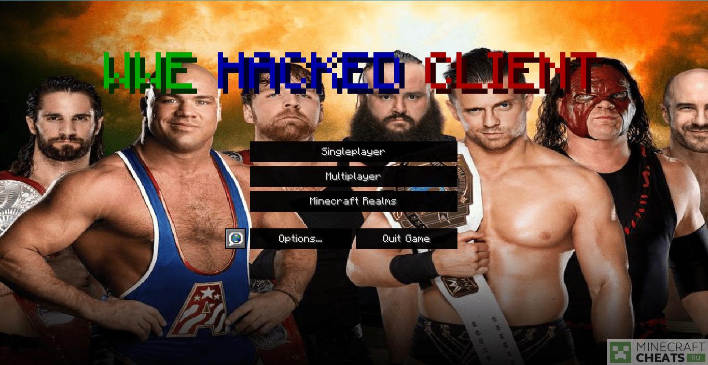 Главное меню чита WWE
