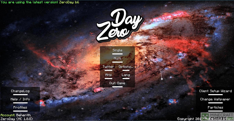 Главное меню чита ZeroDay