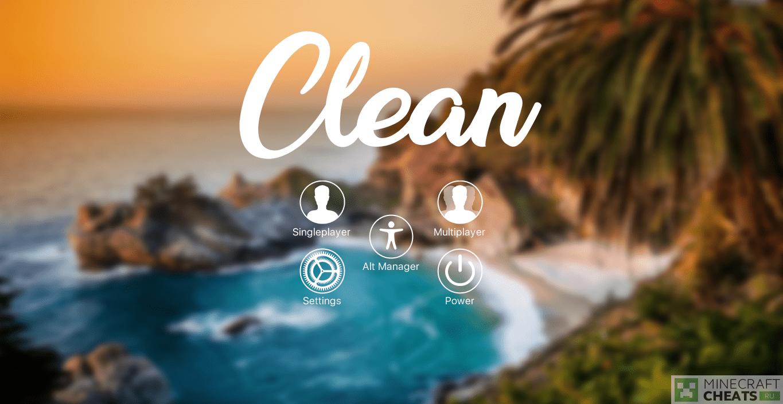 Главное меню чита Clean