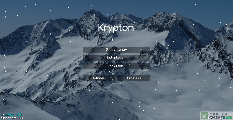 Главное меню чита krypton