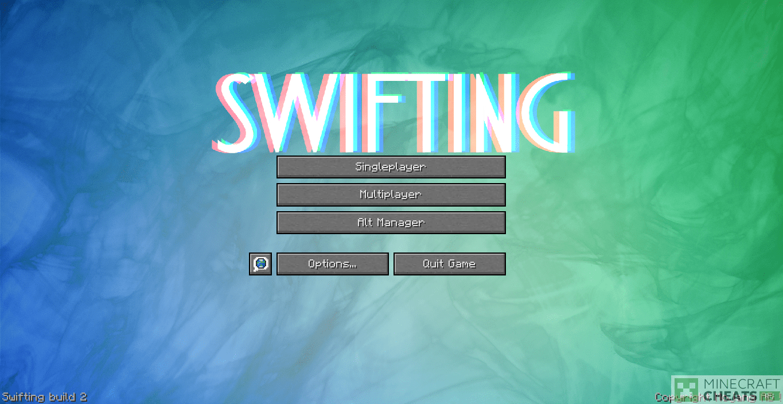 Главное меню в чите Swifting