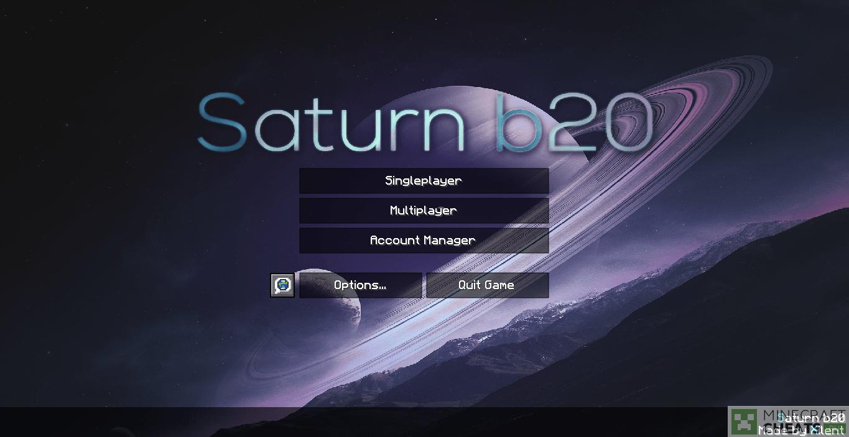 Главное меню чита Saturn