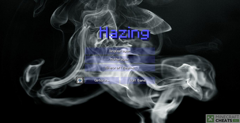Главное меню в чите Hazing