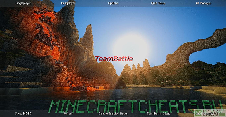Главное меню чита TeamBattle