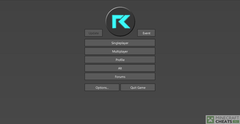 Главное меню в чите Reflex