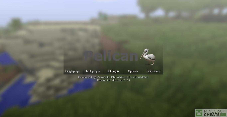Главное меню чита Pelican