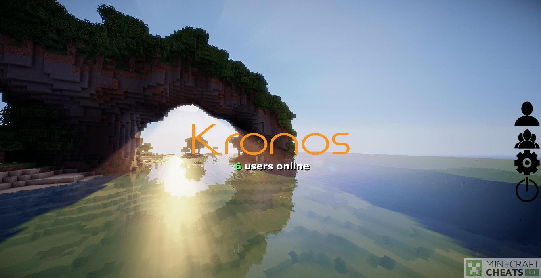 Главное меню в чите Kronos