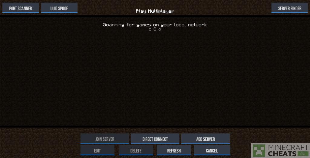 Список серверов в чите Nexus b9