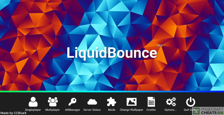 Главное меню чита LiquidBounce