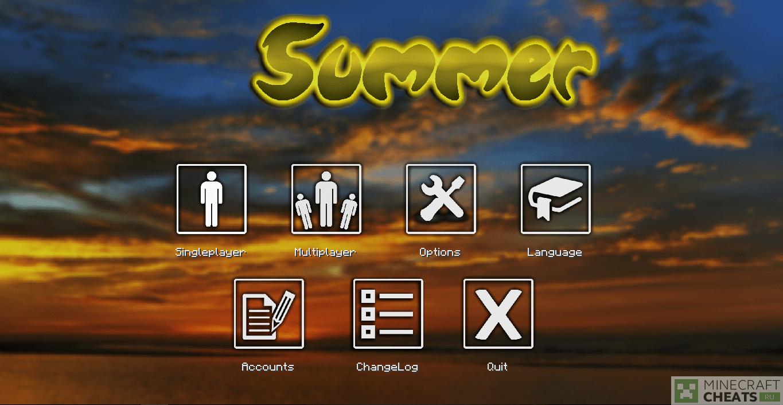 Чит Summer b10 на Майнкрафт 1.8