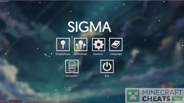Чит Sigma 1.50 на Майнкрафт 1.8