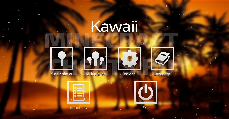 Главное меню чита Kawaii
