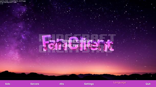 Чит Fan v2 на Майнкрафт 1.8