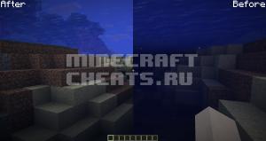 Чит-мод Clear Water на Майнкрафт 1.12.2 — 1.17.1